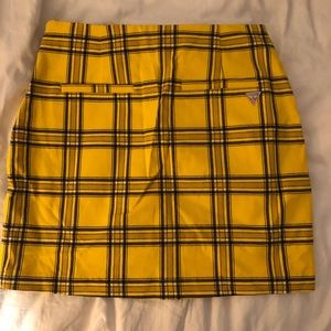 Urban Outfitters X Guess 90s style plaid skirt